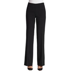 Akris Black Wool High Rise Trouser Dress Pant Sz 4